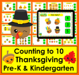 Boom Cards™ Thanksgiving Math: Counting to 10: Click the Correct Answer