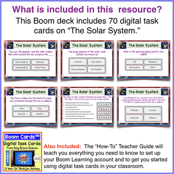 Boom Cards™ The Solar System