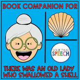 There Was an Old Lady Who Swallowed a Shell Book Companion   Boom Cards