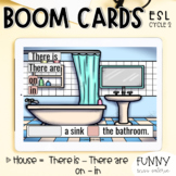 Boom Cards™ There is - There are - On - In (Theme : HOUSE)