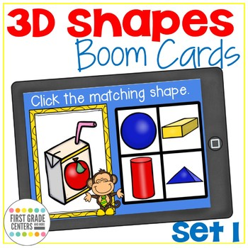 Boom Cards Three Dimensional Shapes Set 1