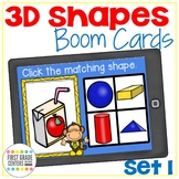 3d shapes Boom Cards Three Dimensional Shapes Set 1