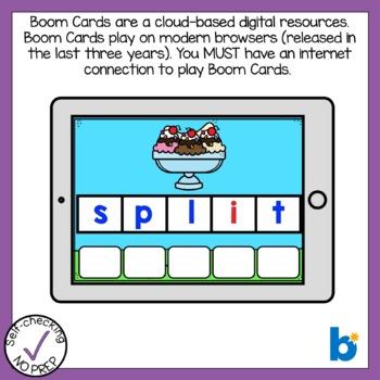 Boom Cards Three Letter Blends Bundle