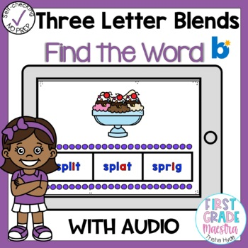 Boom Cards Three Letter Blends Find the Word