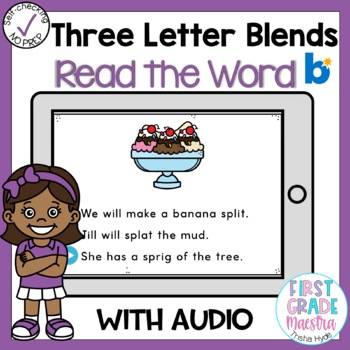 Boom Cards Three Letter Blends Read the Word