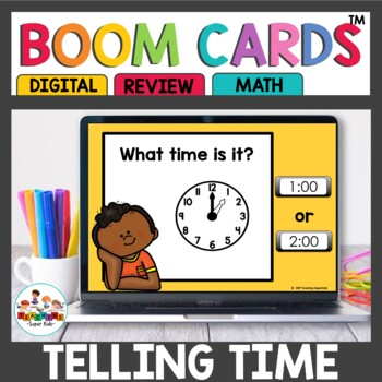 Boom Cards Time to the hour and half hour