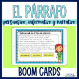 Boom Cards™ Tipos de texto en párrafos | Spanish Text type