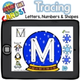 Boom Cards - Tracing Letters, Numbers and Shapes - Snow Globe