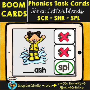 Boom Cards | Trigraphs scr, shr, spl Cards