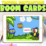 Boom Cards | Tropical Contractions | May First Grade
