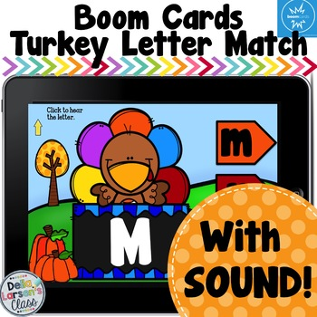 Boom Cards Turkey Letter Match