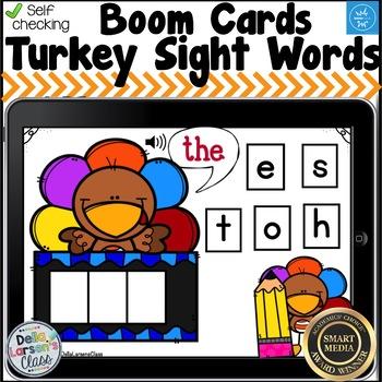 Boom Cards Turkey Sight Words