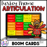 Boom Cards: Turkey Time Articulation Game (Later Phonemes)