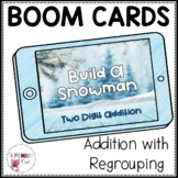 Boom Cards Two-Digit Addition with Regrouping Build A Snowman