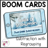 Boom Cards Two-Digit Subtraction with Regrouping Build A Snowman