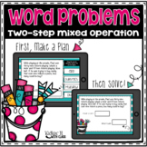 Boom Cards: Two Step Word Problems | Distance Learning