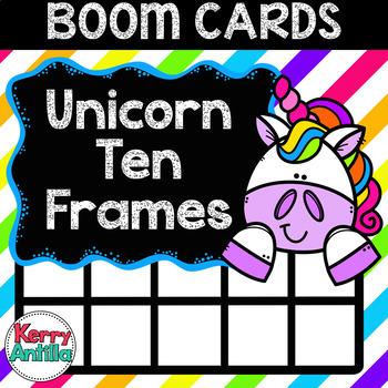 Boom Cards Unicorn Ten Frames