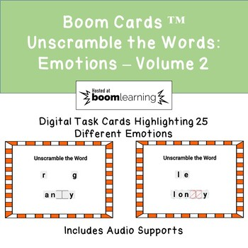 Boom Cards Unscramble the Words: Emotions Edition - Volume 2