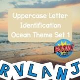 Boom Cards! Uppercase Letter Identification Ocean Theme Deck 1