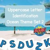 Boom Cards! Uppercase Letter Identification Ocean Theme Deck 2