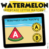 Summer Boom Cards Watermelon Uppercase Letter Matching