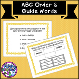 Boom Cards VA SOL Guide Words and ABC Order TEI Practice