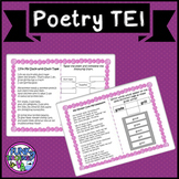 Boom Cards VA SOL Reading Poetry with TEI Practice