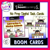 Boom Cards VALENTINE'S DAY Subtraction & Missing Addend Ten Frame Cards