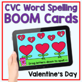 Boom Cards - Valentine's Day CVC Word Building