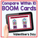 Boom Cards - Valentine's Day Compare Within 10
