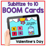 Boom Cards - Valentine's Day Subitize to 10