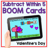 Boom Cards - Valentine's Day Subtract Within 5
