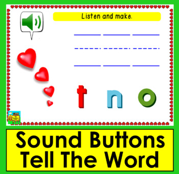 Boom Cards™ Valentine's Day Theme:Sight Words Scrambles-Dolch 1-24 PrePrimer