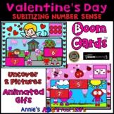 Boom Cards ™ Valentine's Subitizing Number Sense Uncover t