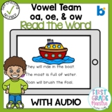 Boom Cards Vowel Team OE OA and OW Read the Word