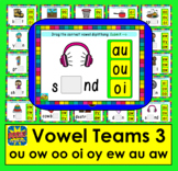 Boom Cards™ Vowel Teams: Deck 3: Diphthongs: oo ow ou oi oy ew au aw Self-Chkg