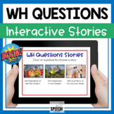 Boom Cards WH Questions Interactive Stories Digital No Print