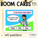 Boom Cards™ WH questions