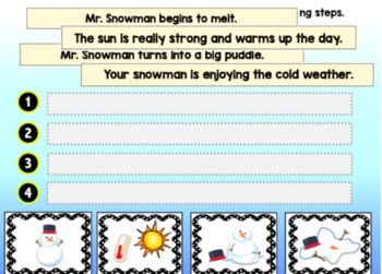 Boom Cards WINTER SEQUENCING Digital Task Cards