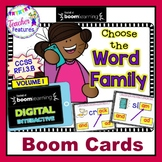 Boom Cards Phonics WORD FAMILIES & PHONOGRAMS Volume 1 for 1st Grade