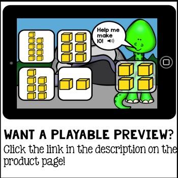 Boom Cards - Ways to Make Ten - decomposing (Kindergarten Digital Math)