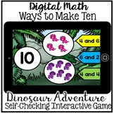 Boom Cards - Ways to Make Ten Number Bonds (Kindergarten Digital Math)