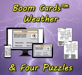 Boom Cards™ Weather & Four Puzzles