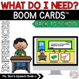 Boom Cards™ What Do I Need: Back to School Theme | Distanc