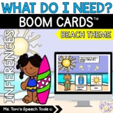 Boom Cards™ What Do I Need-Beach Theme | Distance Learning