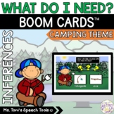 Boom Cards™ What Do I Need-Camping Theme | Distance Learning