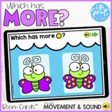 Boom Cards™ ● Which has MORE? ● Spring Math ● Subitizing