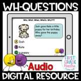 Boom Cards Who What When Where Why  Reading Comprehension