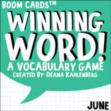 Boom Cards™️ Winning Word- June