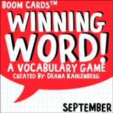 Boom Cards™️ Winning Word- September
